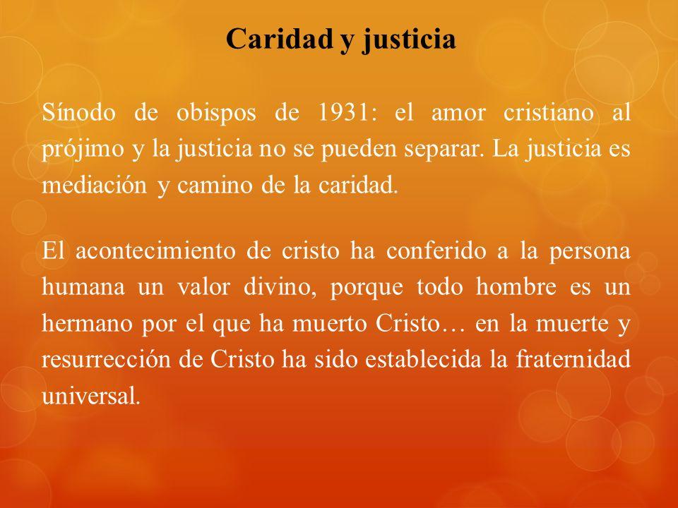 Caridad y justicia