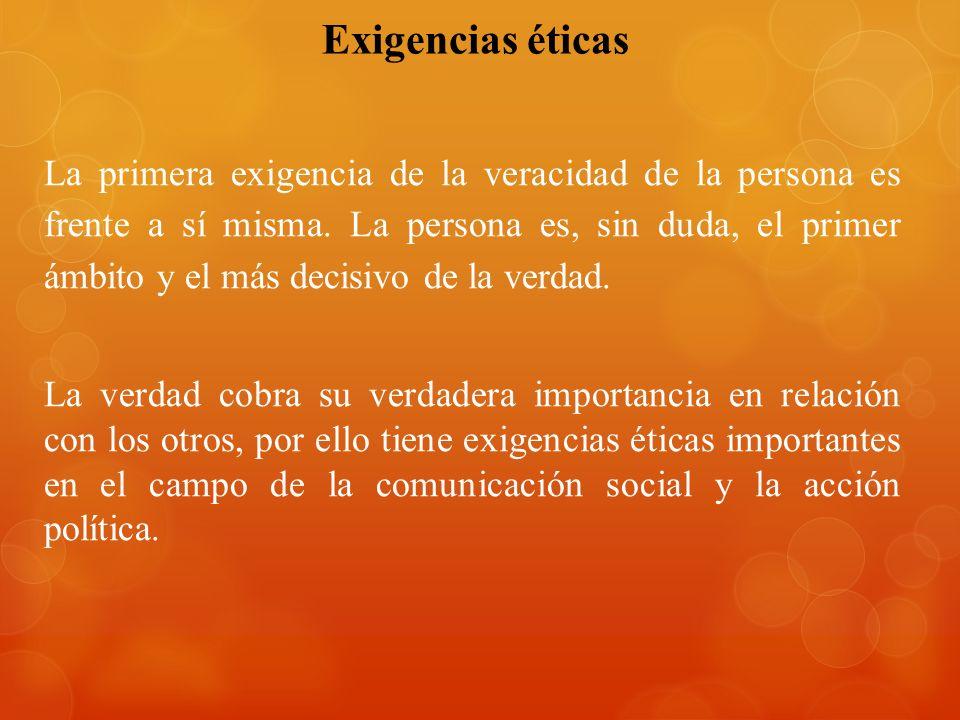 Exigencias éticas