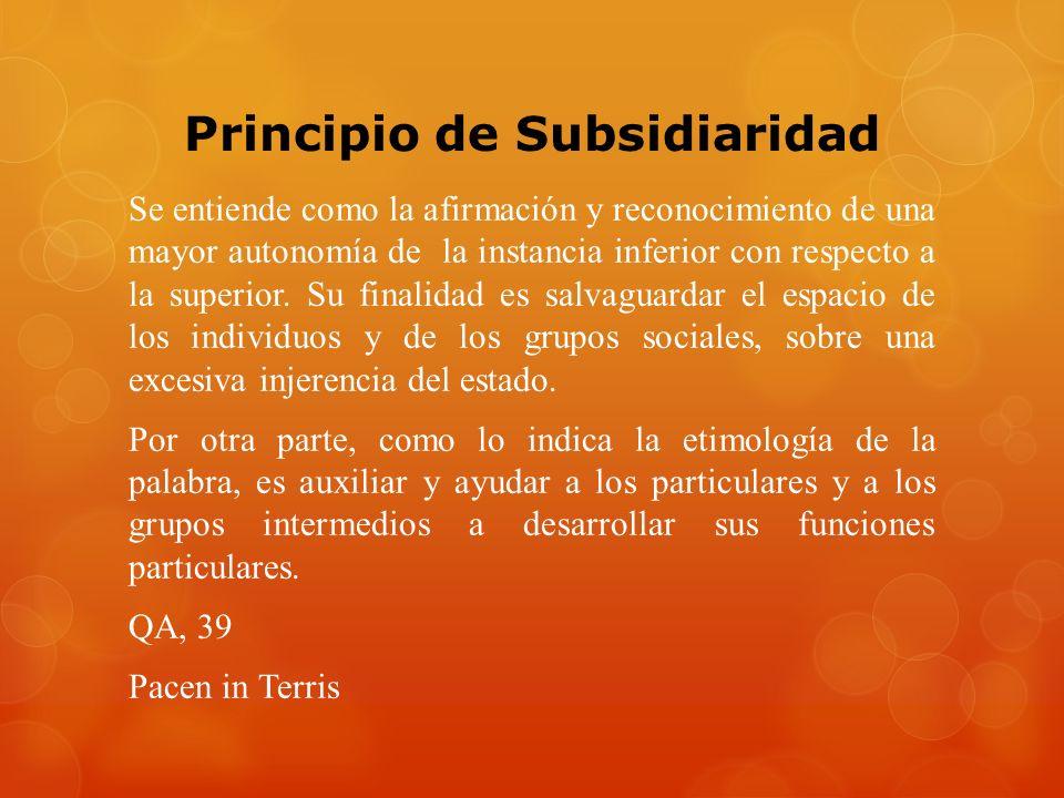 Principio de Subsidiaridad