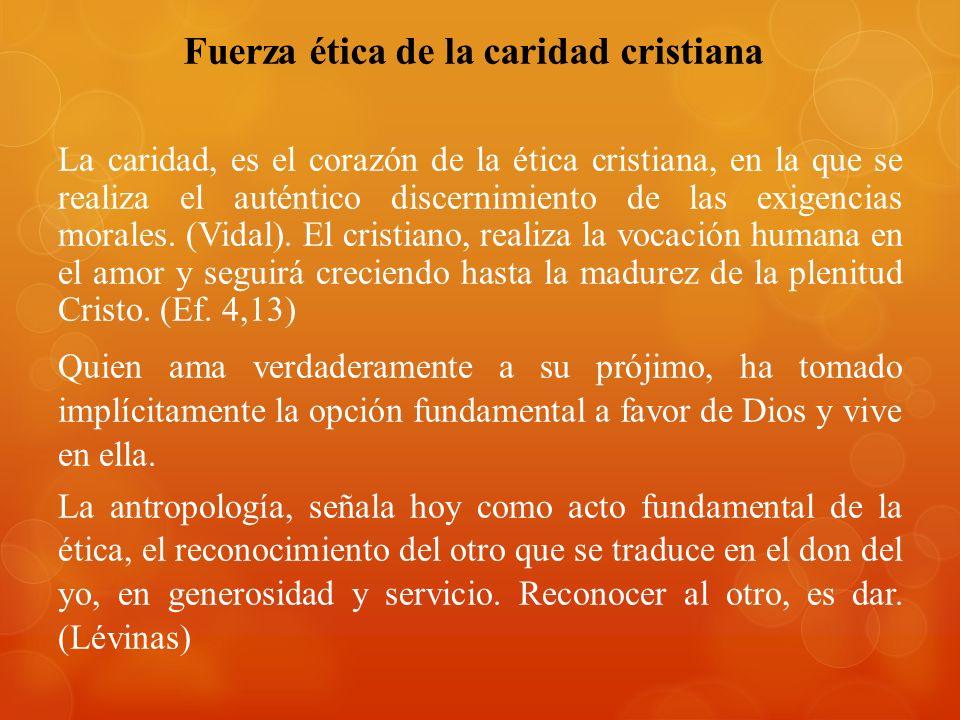 Fuerza ética de la caridad cristiana