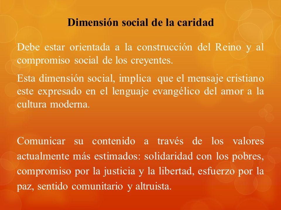 Dimensión social de la caridad