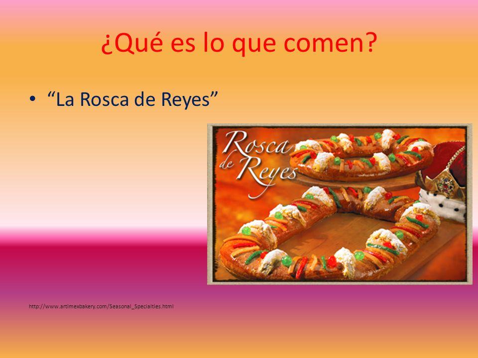 ¿Qué es lo que comen La Rosca de Reyes
