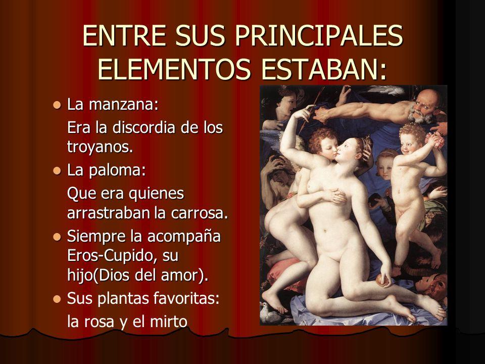 ENTRE SUS PRINCIPALES ELEMENTOS ESTABAN:
