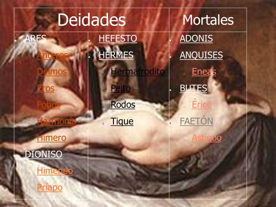 Deidades Mortales ARES Anteros Deimos Eros Fobos Harmonía Hímero