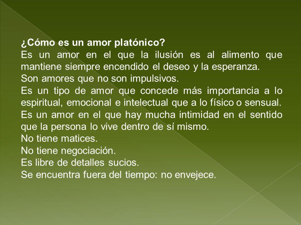 ¿Cómo es un amor platónico