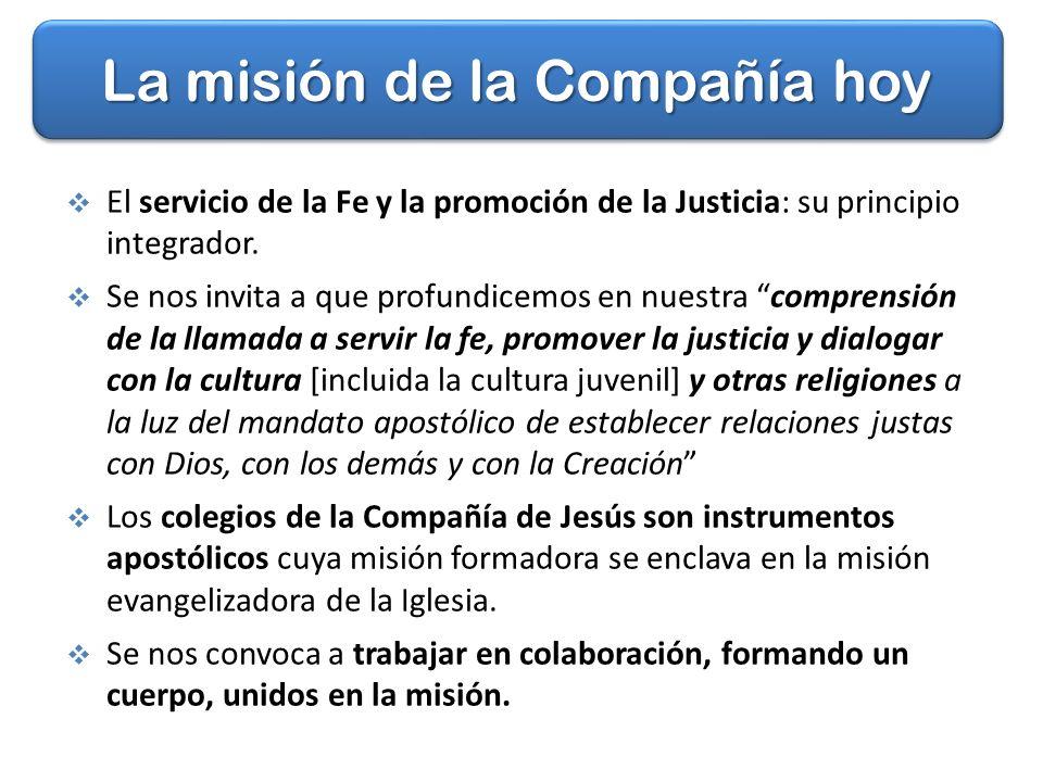 La misión de la Compañía hoy