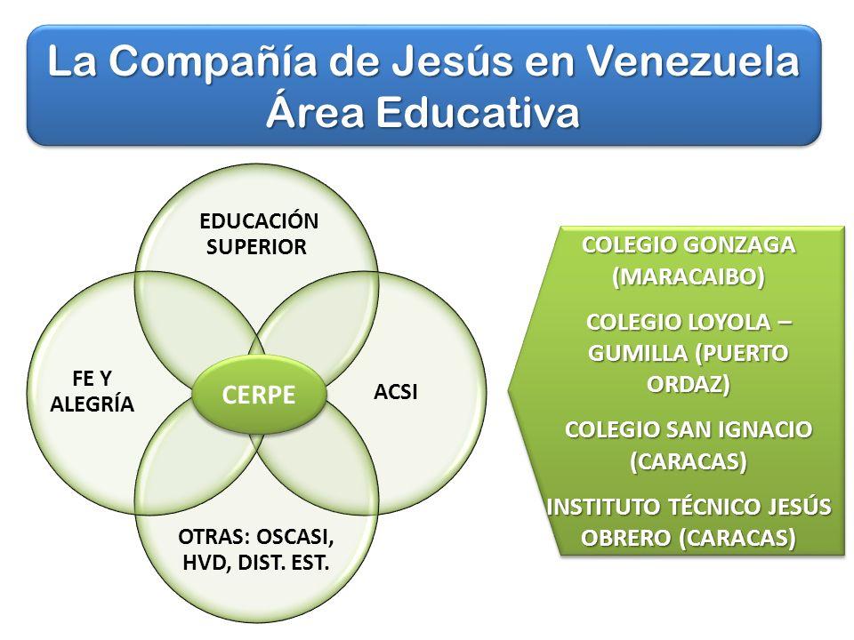 La Compañía de Jesús en Venezuela Área Educativa