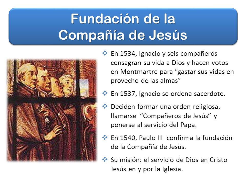 Fundación de la Compañía de Jesús