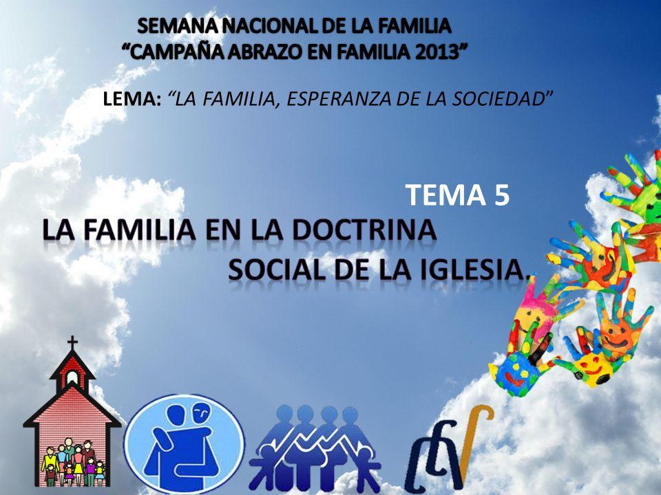 LA FAMILIA EN LA DOCTRINA SOCIAL DE LA IGLESIA.