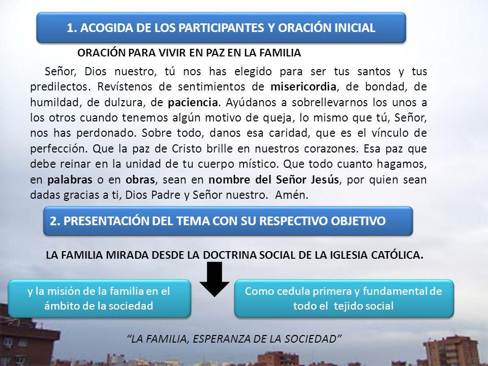 LA FAMILIA MIRADA DESDE LA DOCTRINA SOCIAL DE LA IGLESIA CATÓLICA.