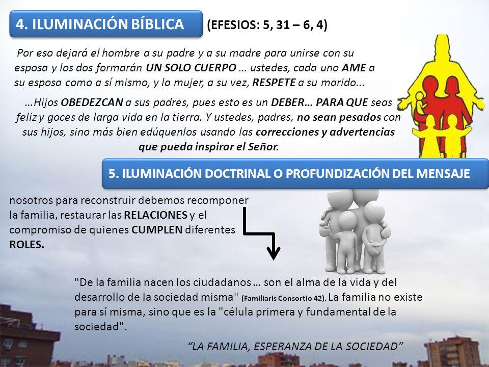 4. ILUMINACIÓN BÍBLICA (EFESIOS: 5, 31 – 6, 4)