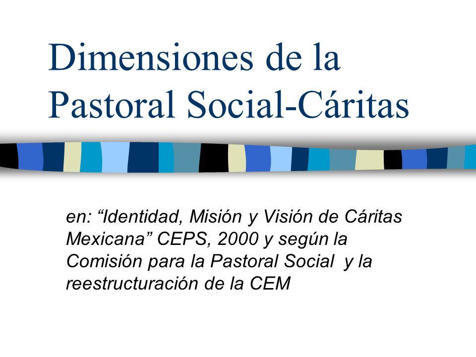 Dimensiones de la Pastoral Social-Cáritas