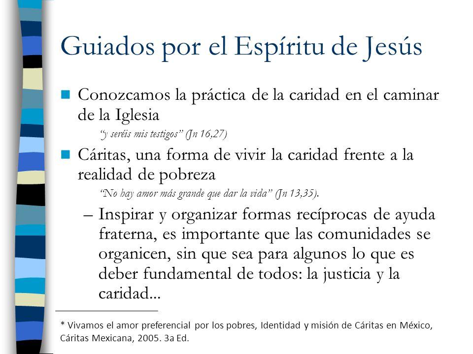 Guiados por el Espíritu de Jesús