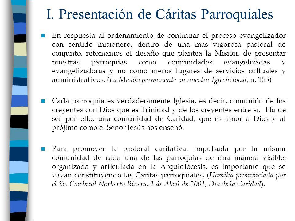 I. Presentación de Cáritas Parroquiales
