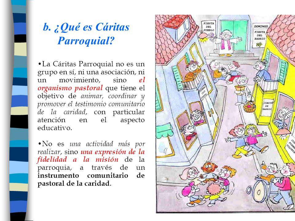 b. ¿Qué es Cáritas Parroquial