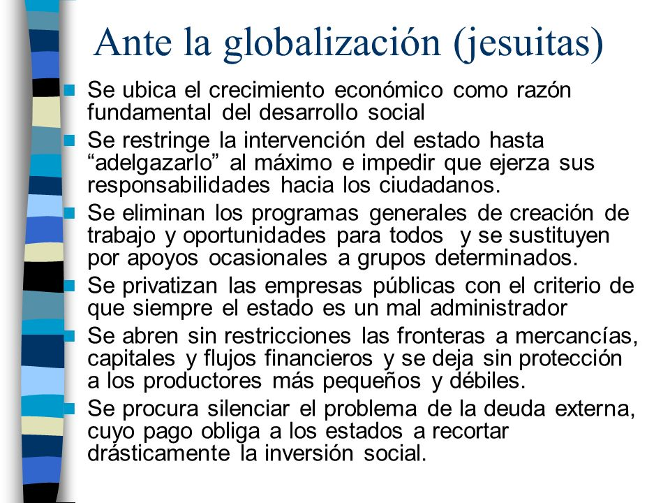 Ante la globalización (jesuitas)