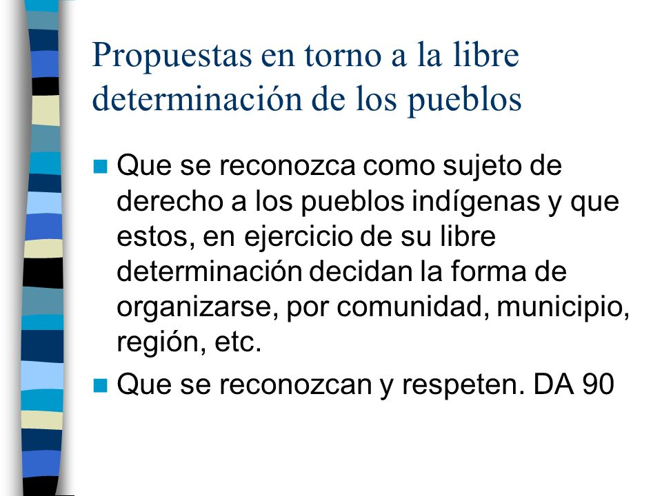 Propuestas en torno a la libre determinación de los pueblos