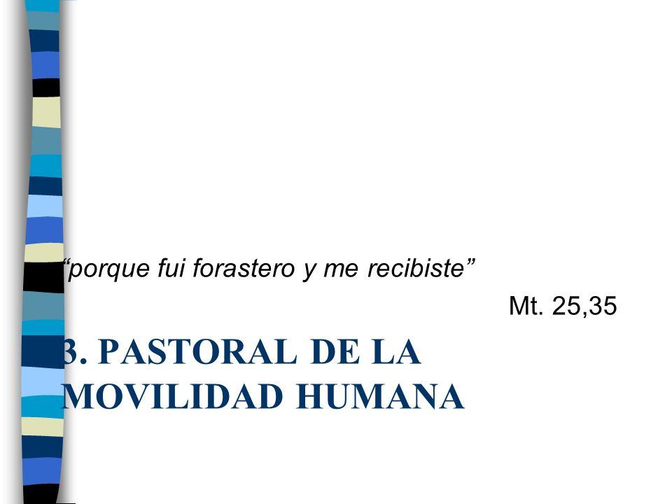3. Pastoral de la Movilidad Humana