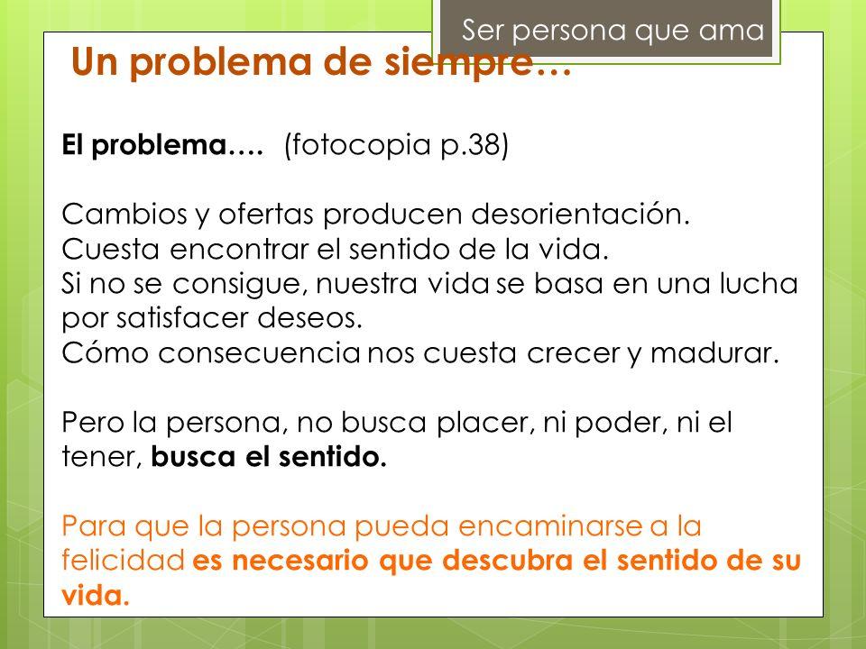 Un problema de siempre…