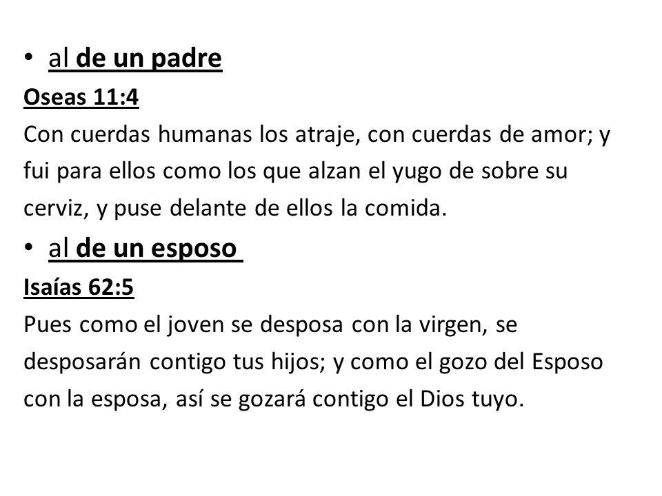 al de un padre al de un esposo Oseas 11:4