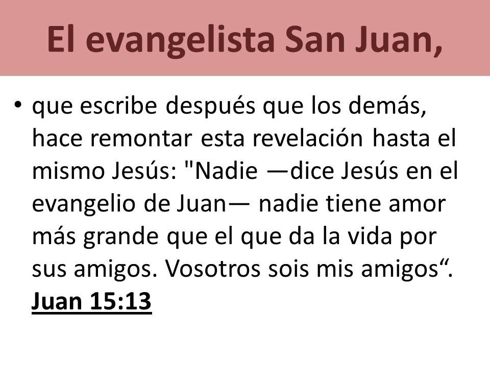 El evangelista San Juan,