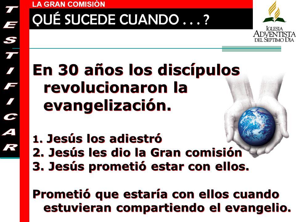 En 30 años los discípulos revolucionaron la evangelización. TESTIFICAR