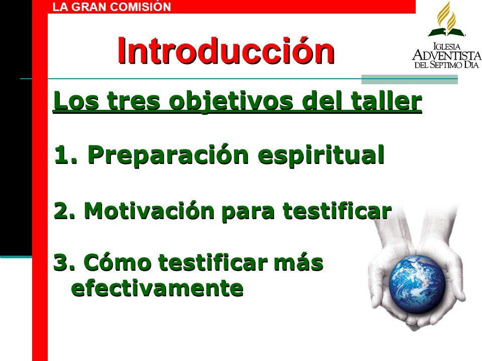 Introducción Los tres objetivos del taller Preparación espiritual