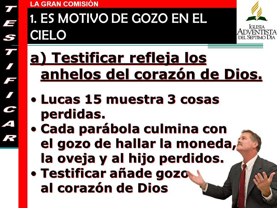 1. ES MOTIVO DE GOZO EN EL CIELO
