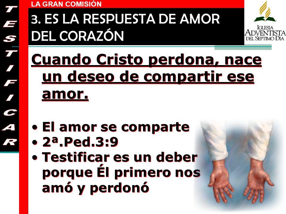 3. ES LA RESPUESTA DE AMOR DEL CORAZÓN