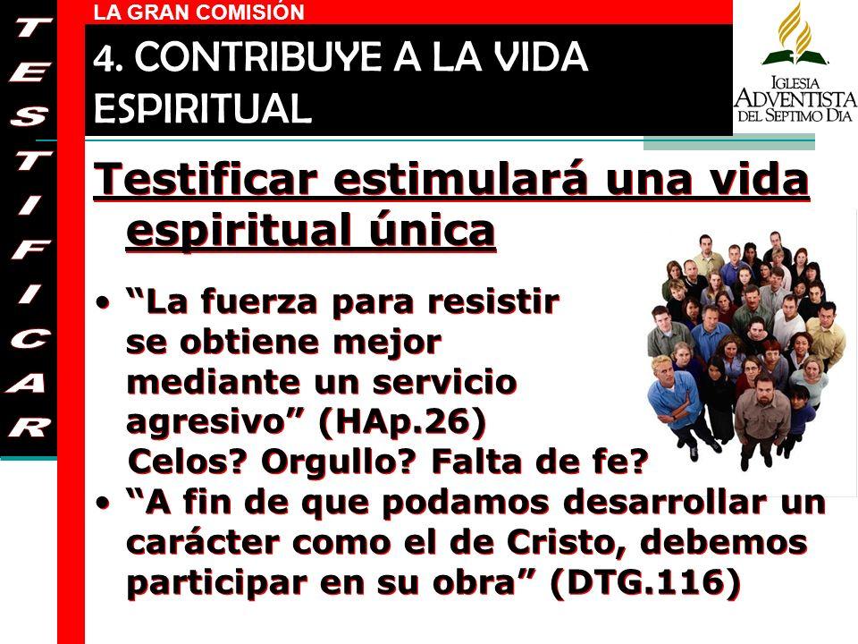 4. CONTRIBUYE A LA VIDA ESPIRITUAL