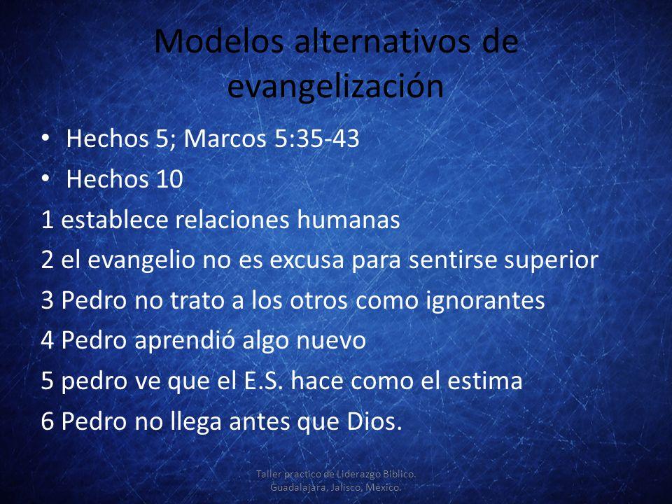 Modelos alternativos de evangelización