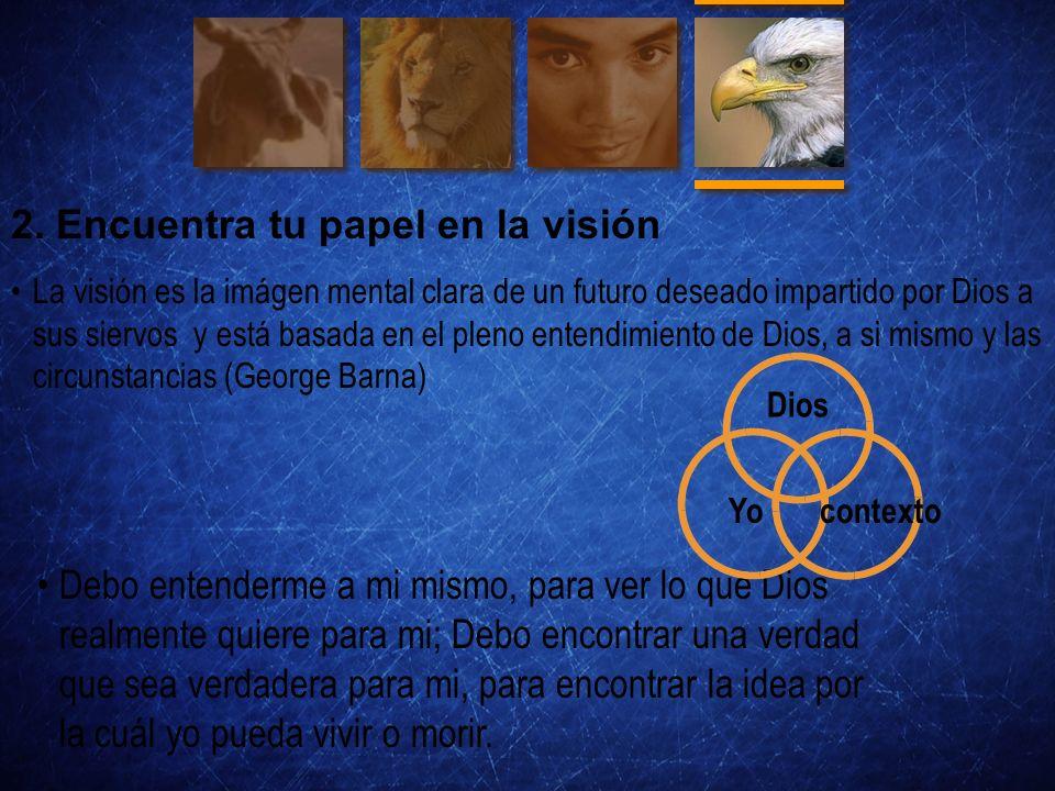 2. Encuentra tu papel en la visión