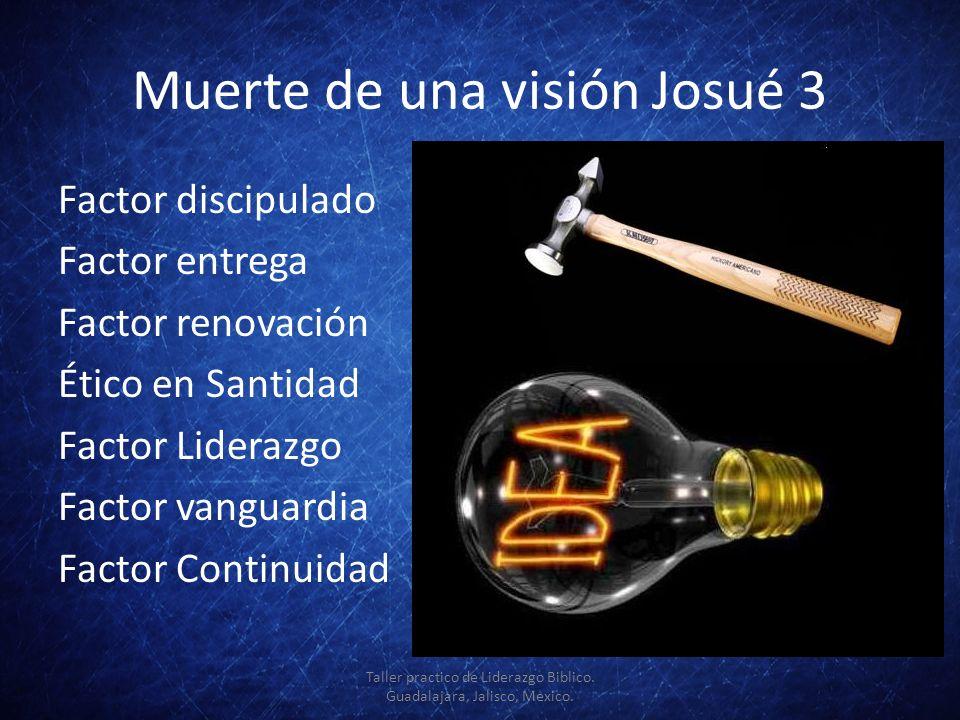 Muerte de una visión Josué 3