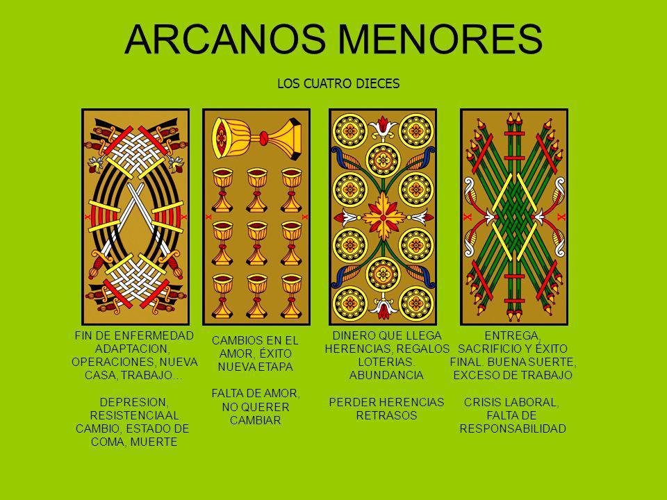 ARCANOS MENORES LOS CUATRO DIECES FIN DE ENFERMEDAD ADAPTACION,