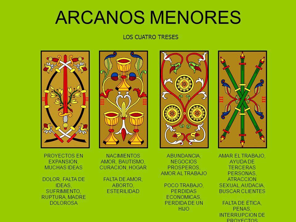 ARCANOS MENORES LOS CUATRO TRESES PROYECTOS EN EXPANSION, MUCHAS IDEAS