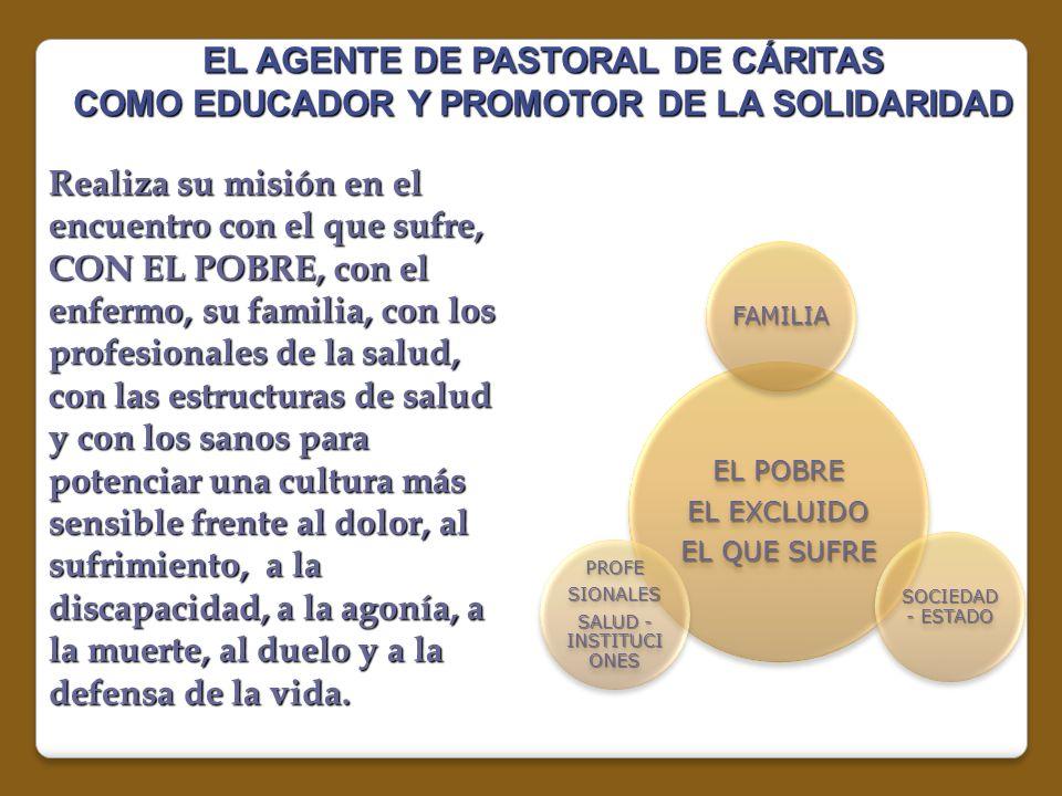 EL AGENTE DE PASTORAL DE CÁRITAS COMO EDUCADOR Y PROMOTOR DE LA SOLIDARIDAD