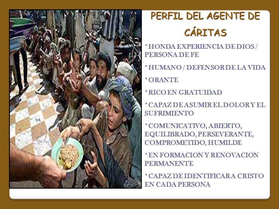 PERFIL DEL AGENTE DE CÁRITAS
