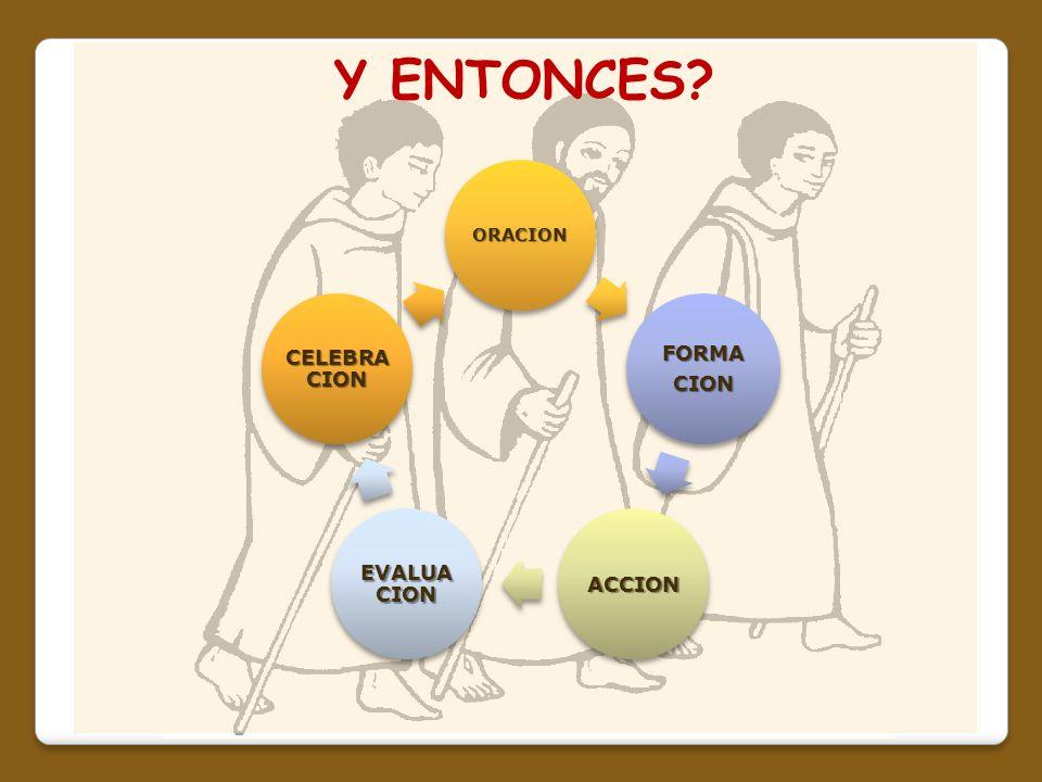 Y ENTONCES ORACION FORMA CION ACCION EVALUACION CELEBRACION