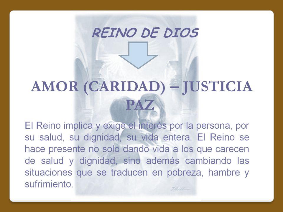 REINO DE DIOS AMOR (CARIDAD) – JUSTICIA PAZ