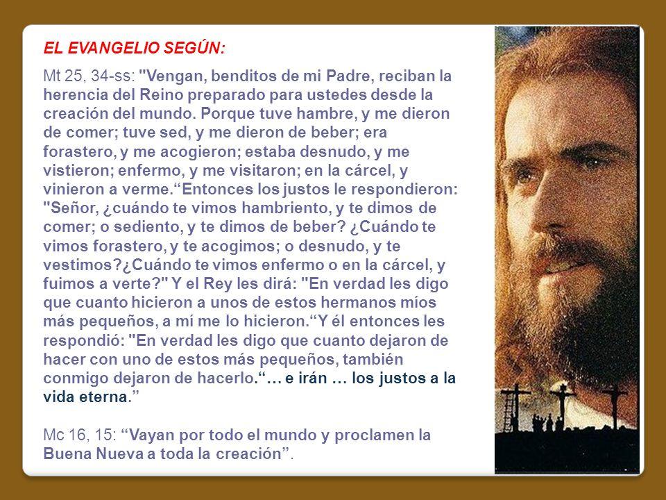 EL EVANGELIO SEGÚN: