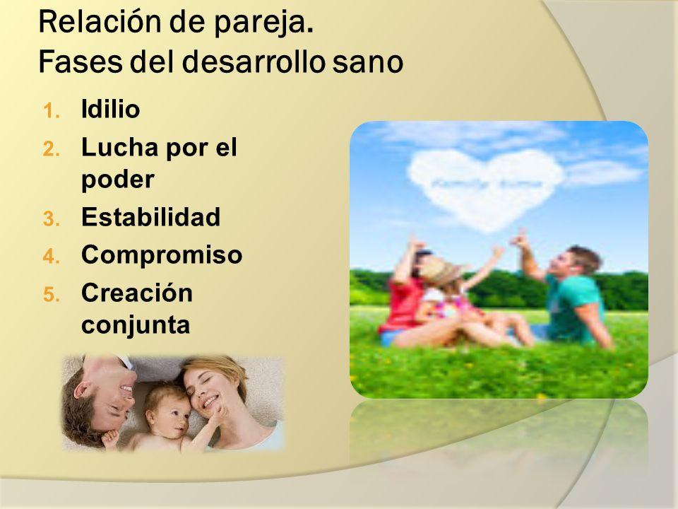 Relación de pareja. Fases del desarrollo sano