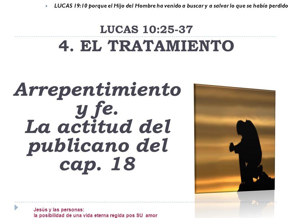 LUCAS 10:25-37 4. EL TRATAMIENTO