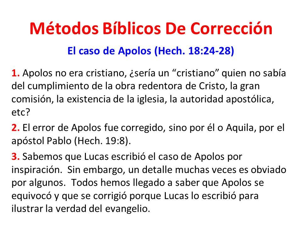 Métodos Bíblicos De Corrección