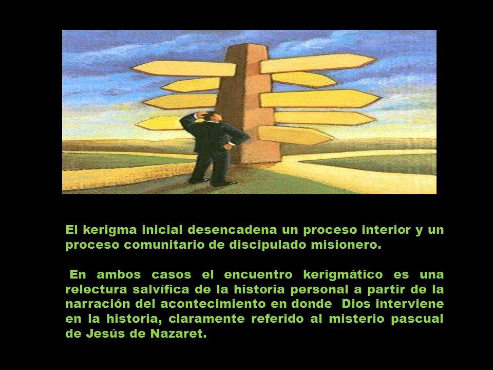 El kerigma inicial desencadena un proceso interior y un proceso comunitario de discipulado misionero.