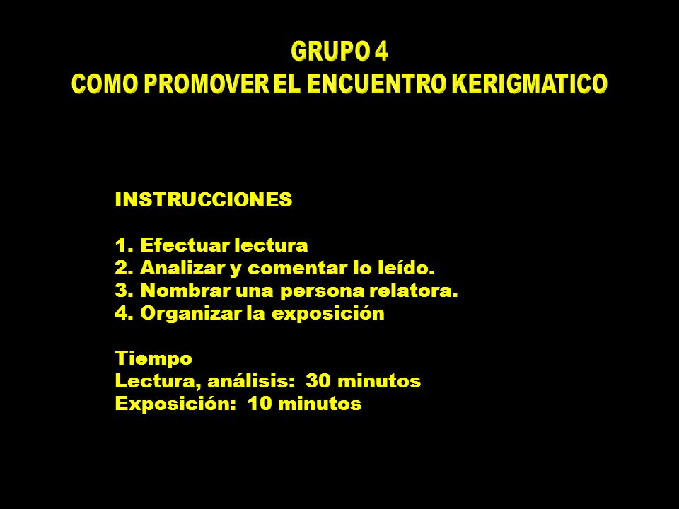 COMO PROMOVER EL ENCUENTRO KERIGMATICO