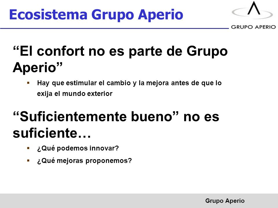 Ecosistema Grupo Aperio