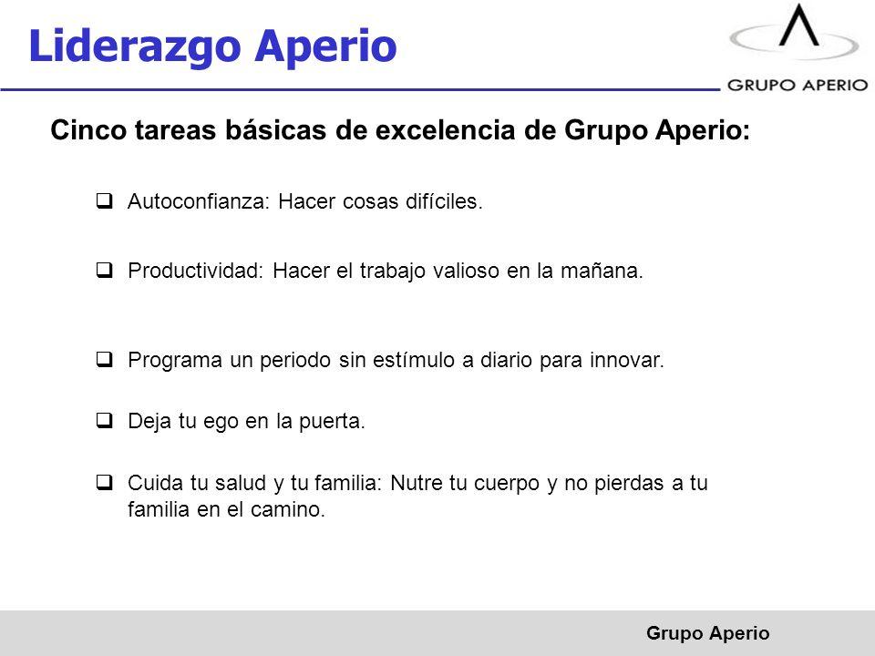 Liderazgo Aperio Cinco tareas básicas de excelencia de Grupo Aperio: