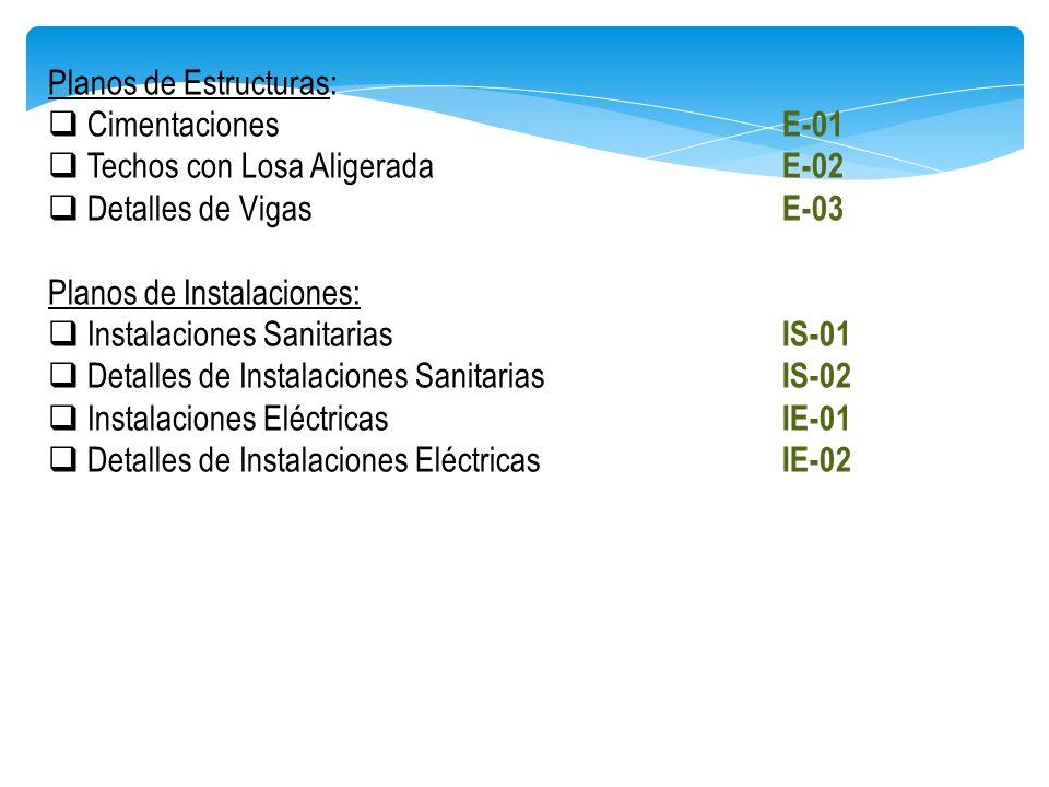 Instituto de educacion superior tecnologico publico for Planos de estructuras