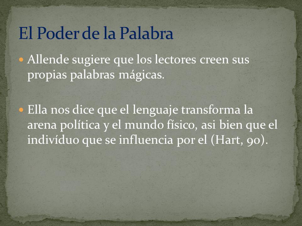 El Poder de la Palabra Allende sugiere que los lectores creen sus propias palabras mágicas.