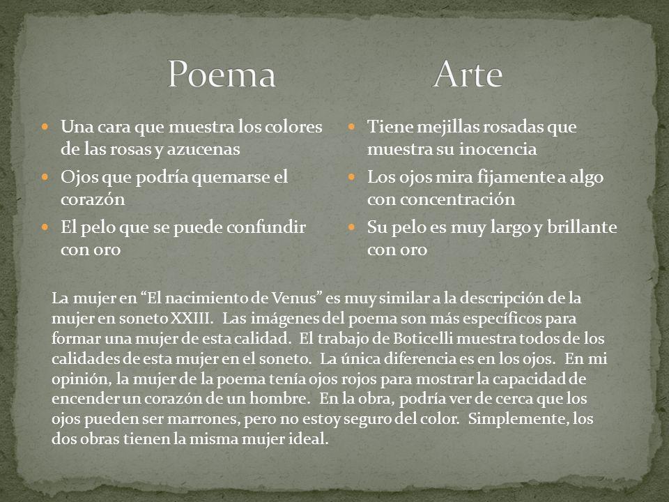 Poema Arte Una cara que muestra los colores de las rosas y azucenas